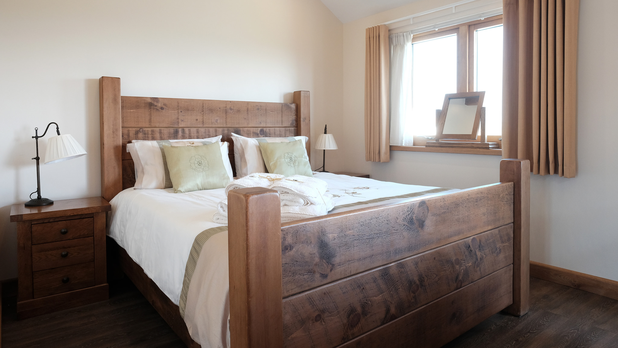 Super king size bed hand crafted from Canadian pine