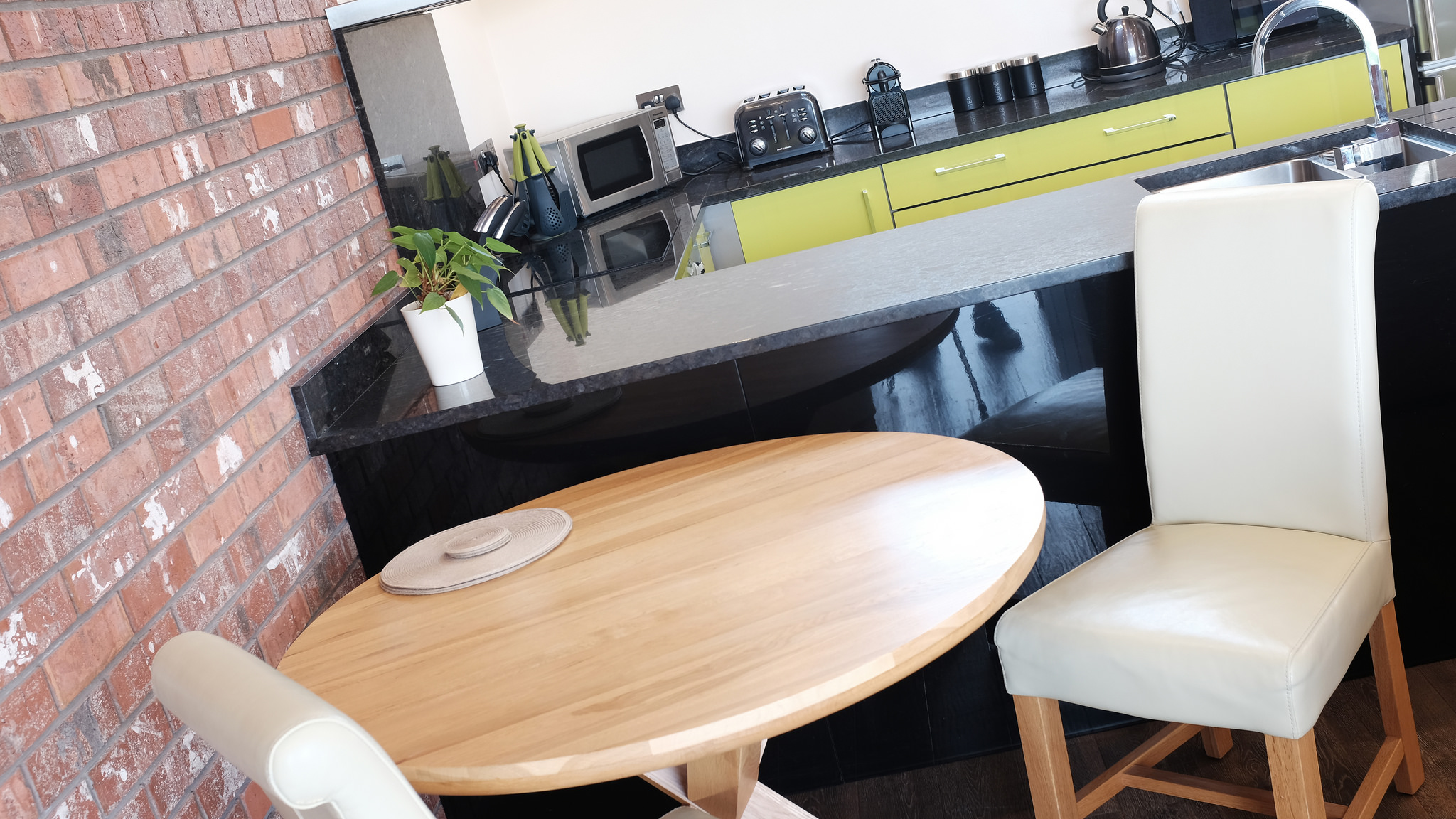 Large dining table for two