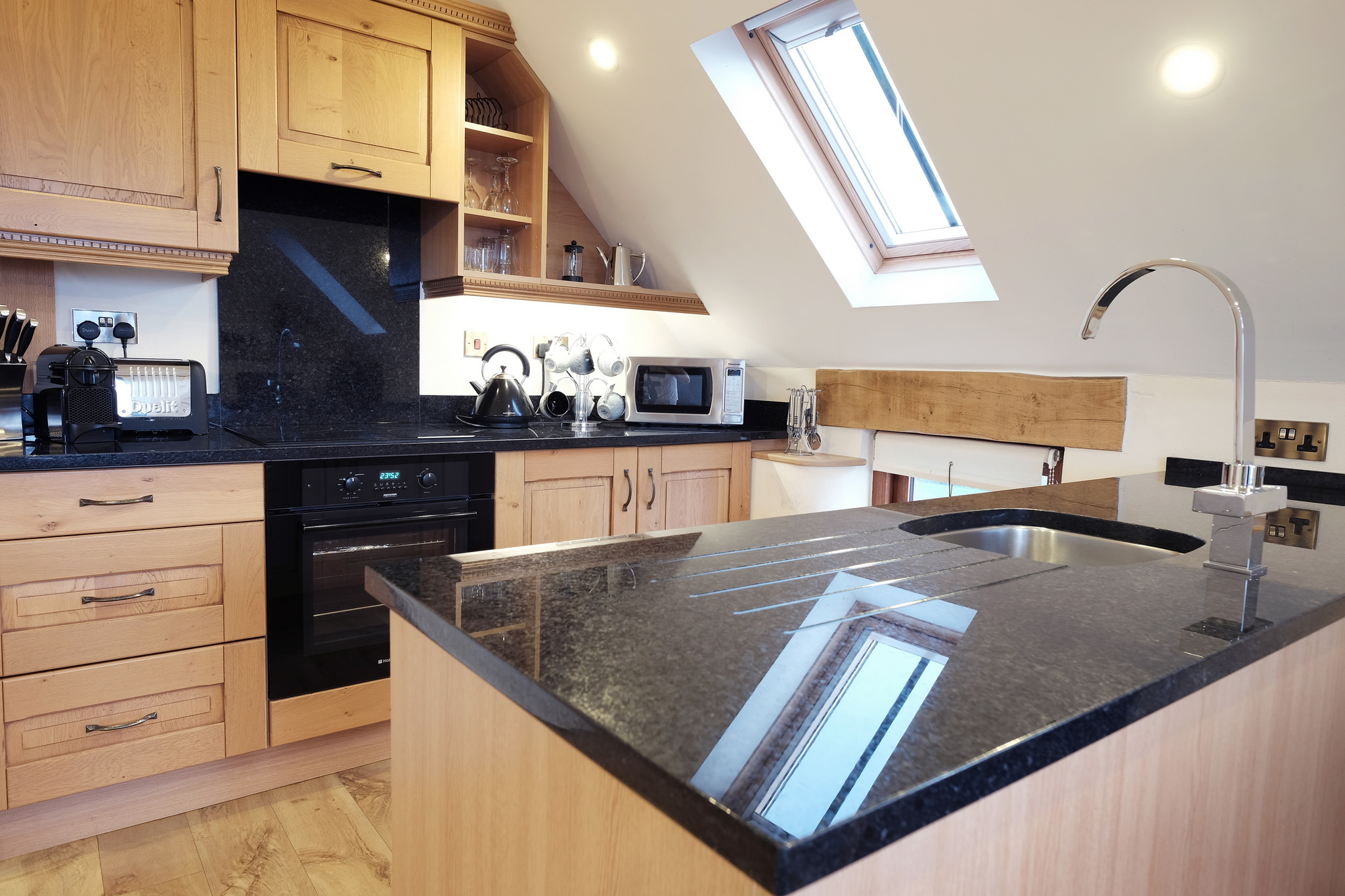Corn Keep luxury kitchen with granite worktops