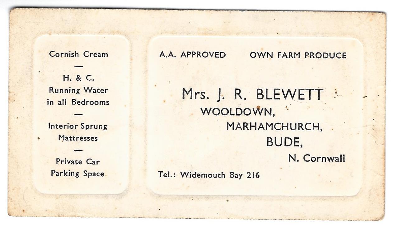 Old Wooldown Business Card