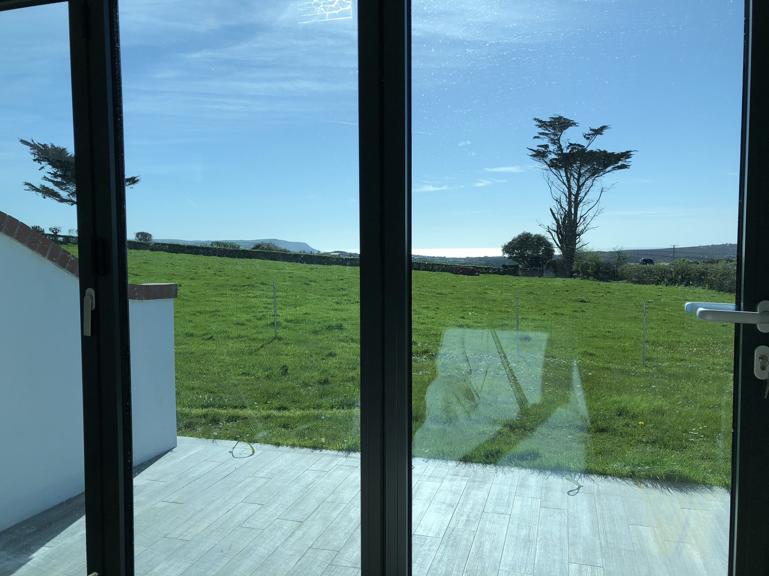View from the bi-fold doors to the sea