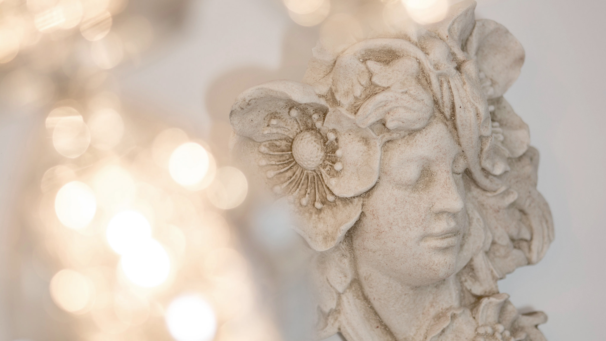 Wall hanging fairy ornament and dining area lighting
