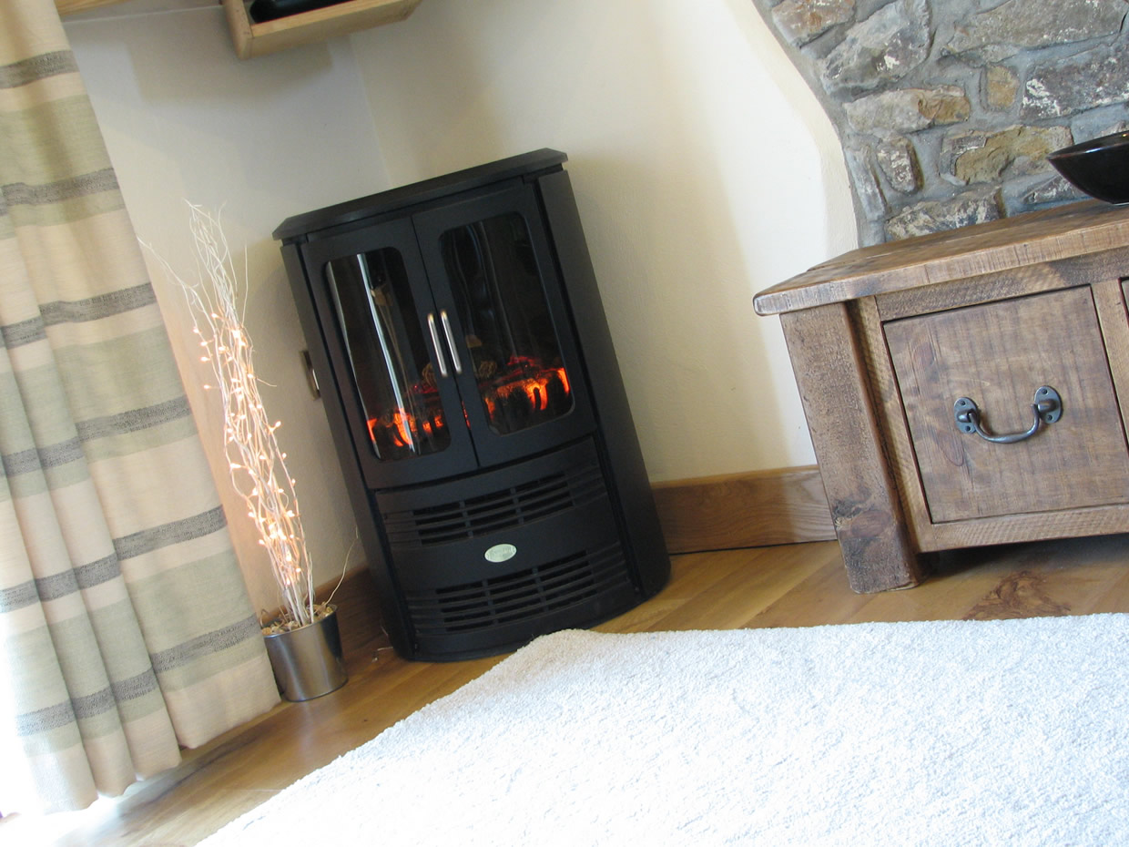 Living area's electric fire