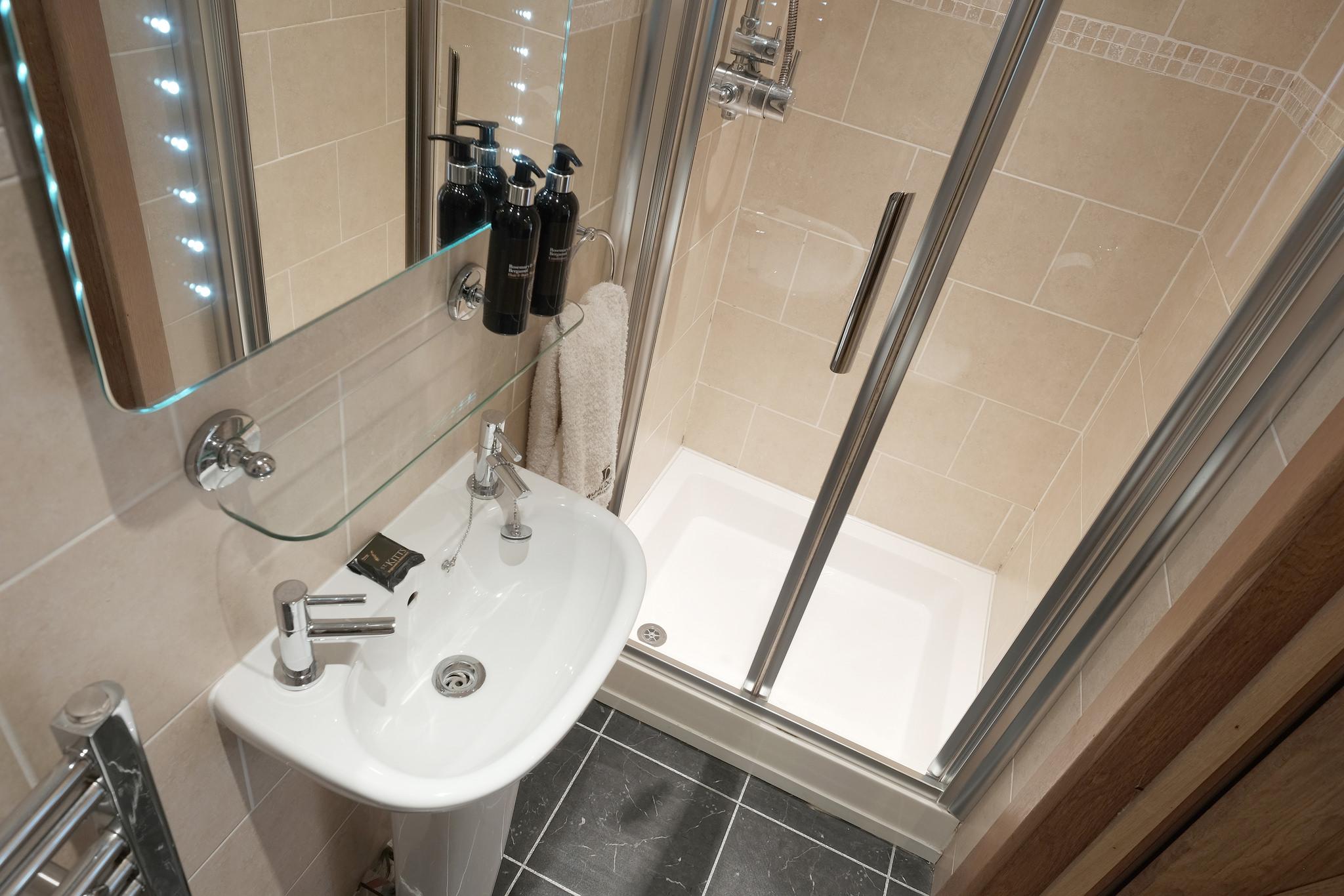 En-suite small shower room