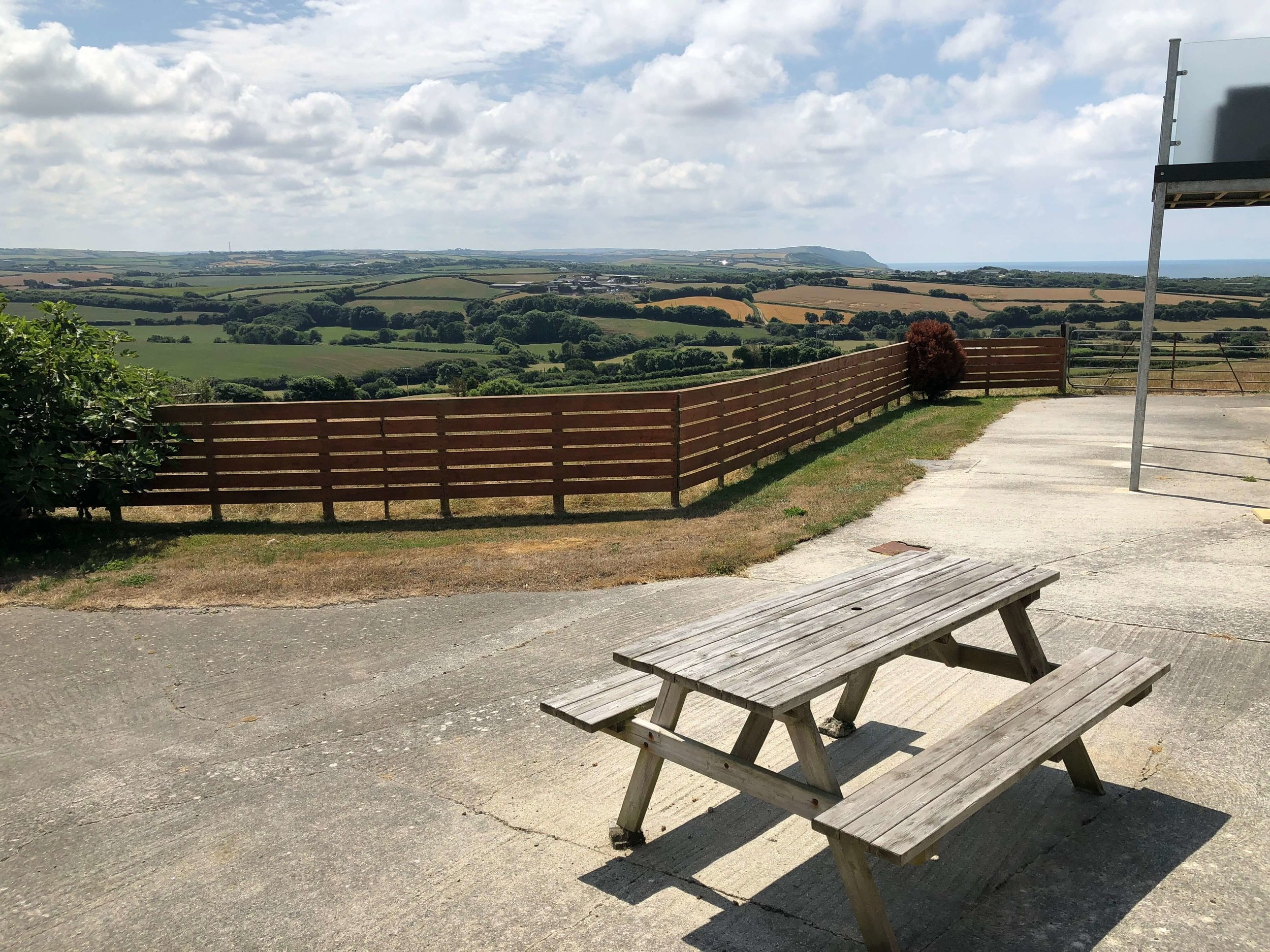 Picnic area with views towards the sea (shared)