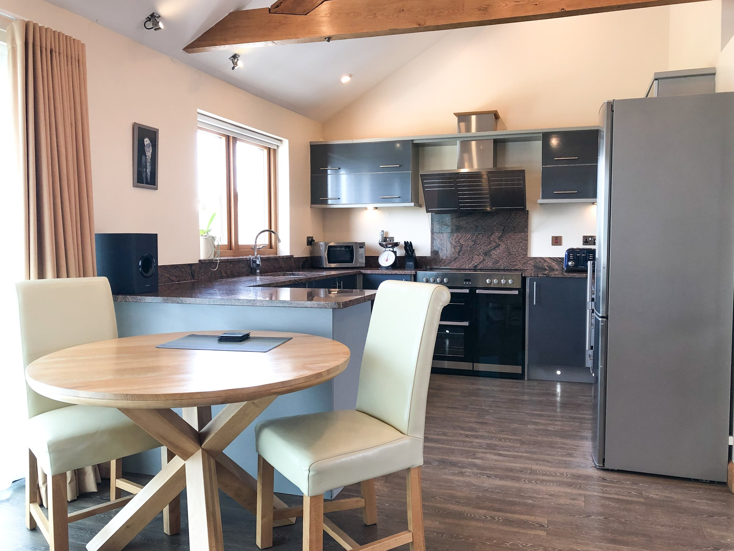 Open plan dining area for two