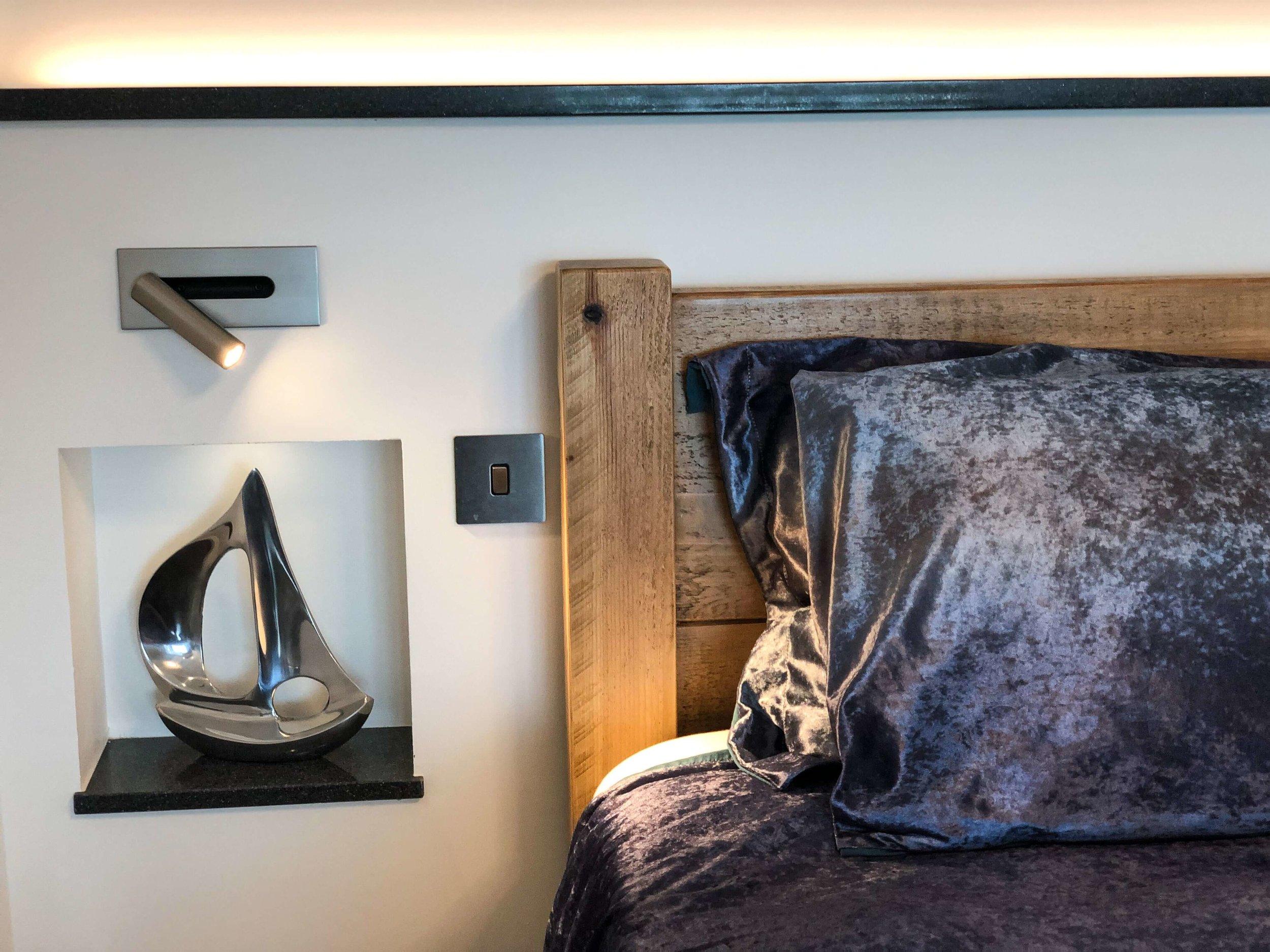 Romantic lighting in the bedroom of Silver Sea