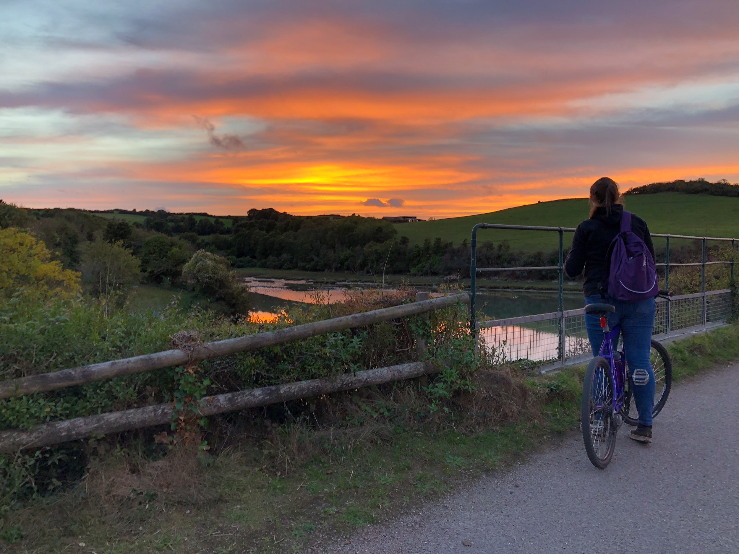 Sunset on the Camel Trail (Wadebridge to Padstow)