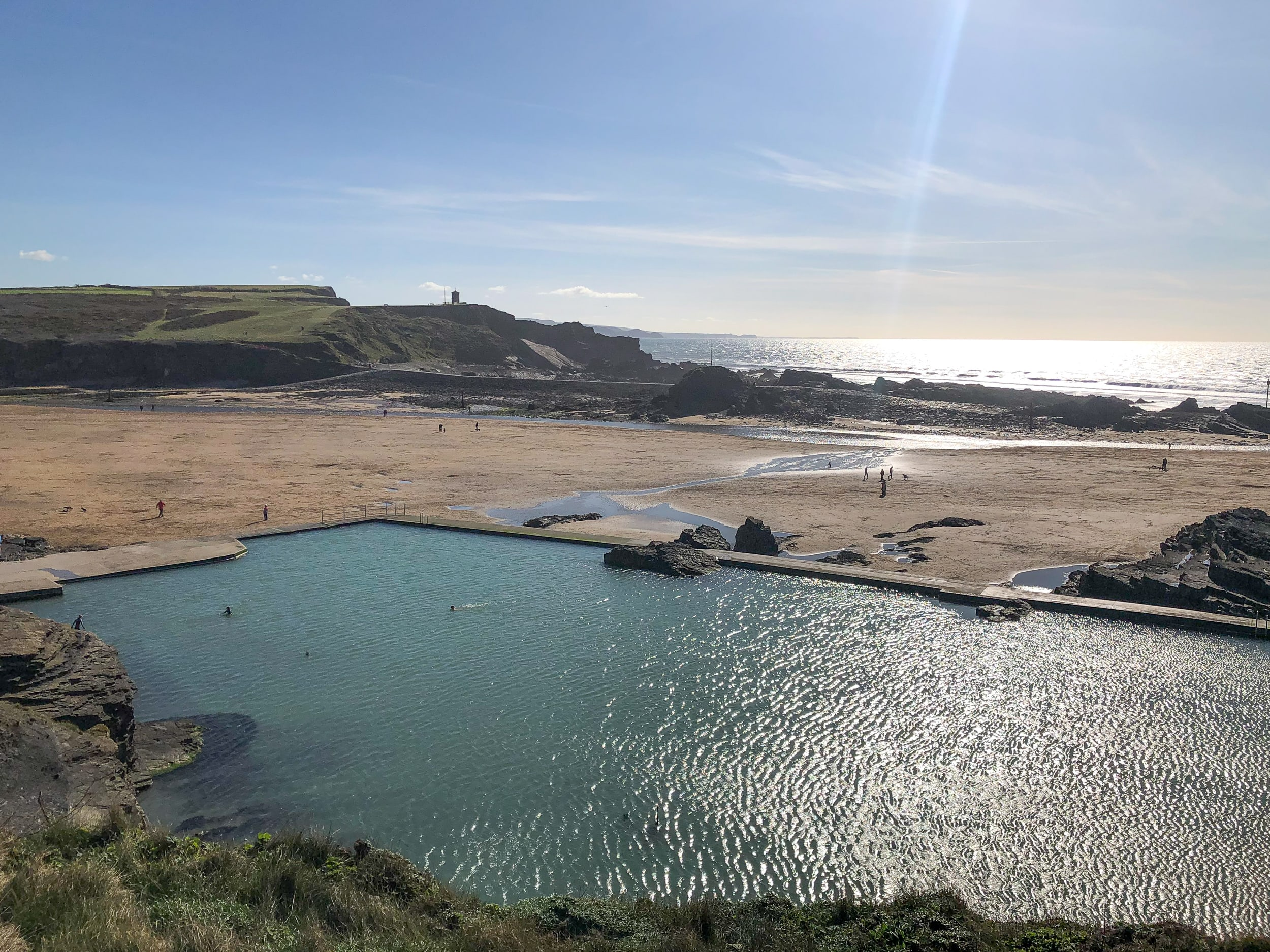 Bude Sea Pool, semi-natural tidal swimming pool at Summerleaze attracting around 50,000 people a year.