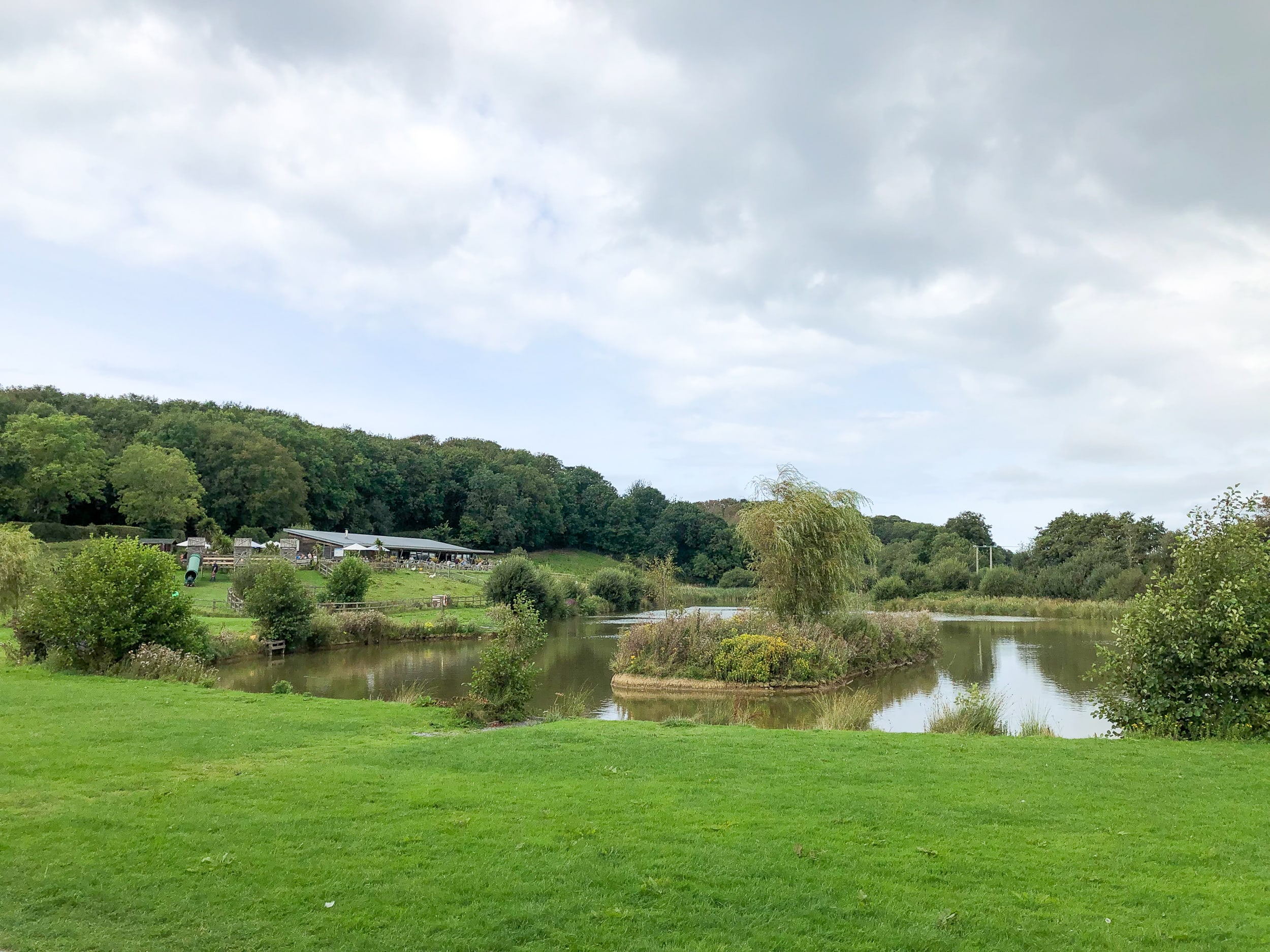 The Weir Cafe & Bistro's fishing lake (just 20 minutes walk from Wooldown)