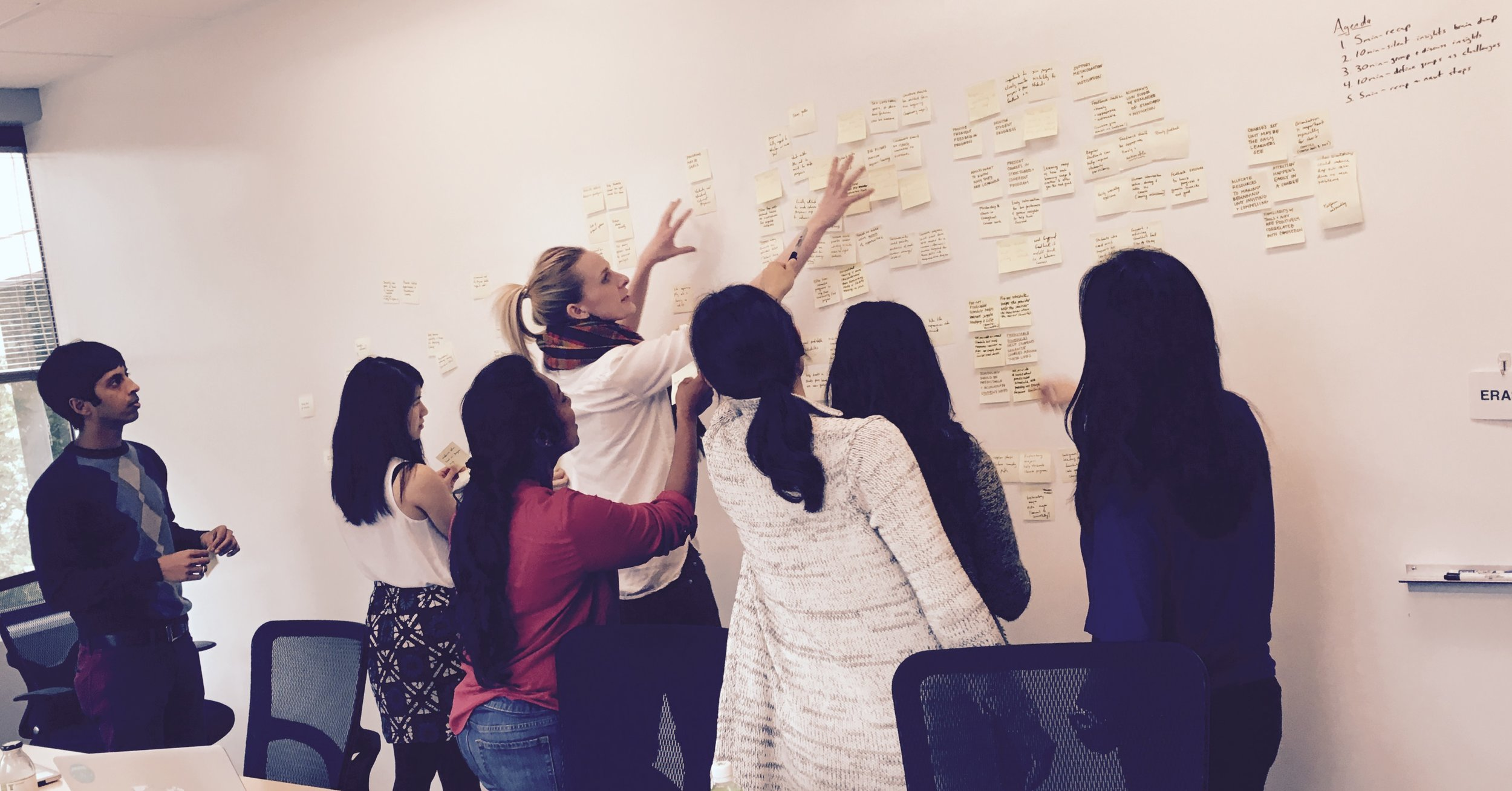 Uncovering research insights with the engineering, design, and user research teams.