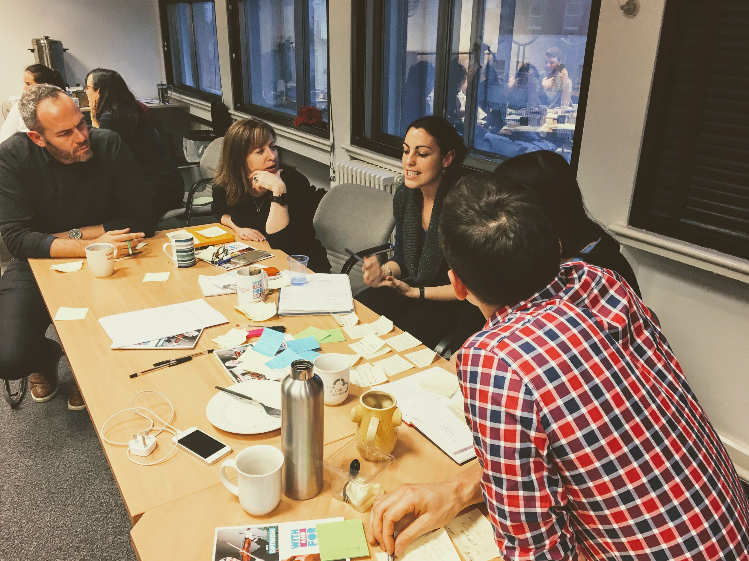 A team deciding how to prototype their concept