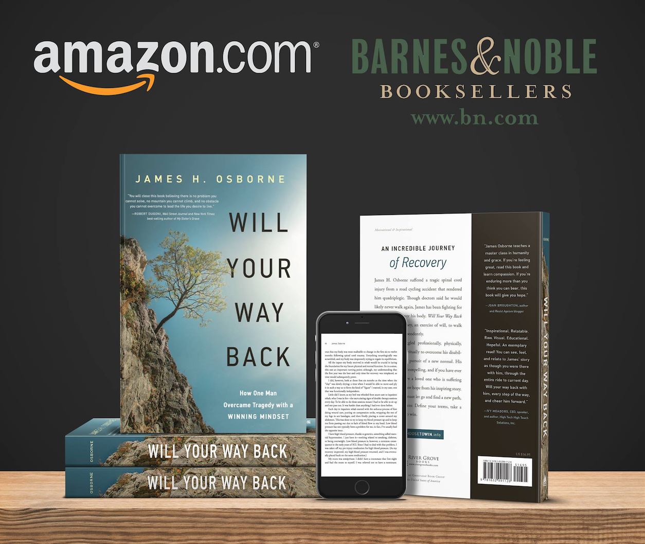 James H. Osborne Will Your Way Back on Amazon and Barnes&Noble