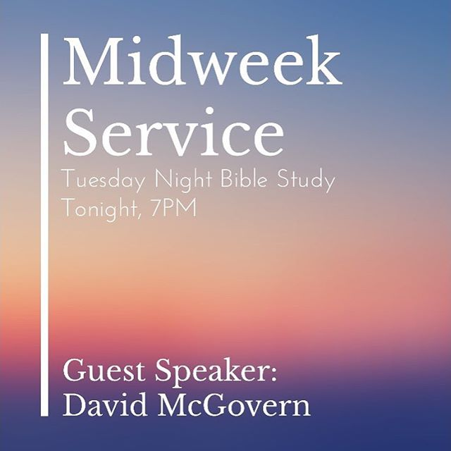 Come expecting a refreshing word from Guest Speaker, Bro. David McGovern. Prayer begins at 6:30PM. #LifeChurchMonrovia #MidweekService #Prayer #Revival