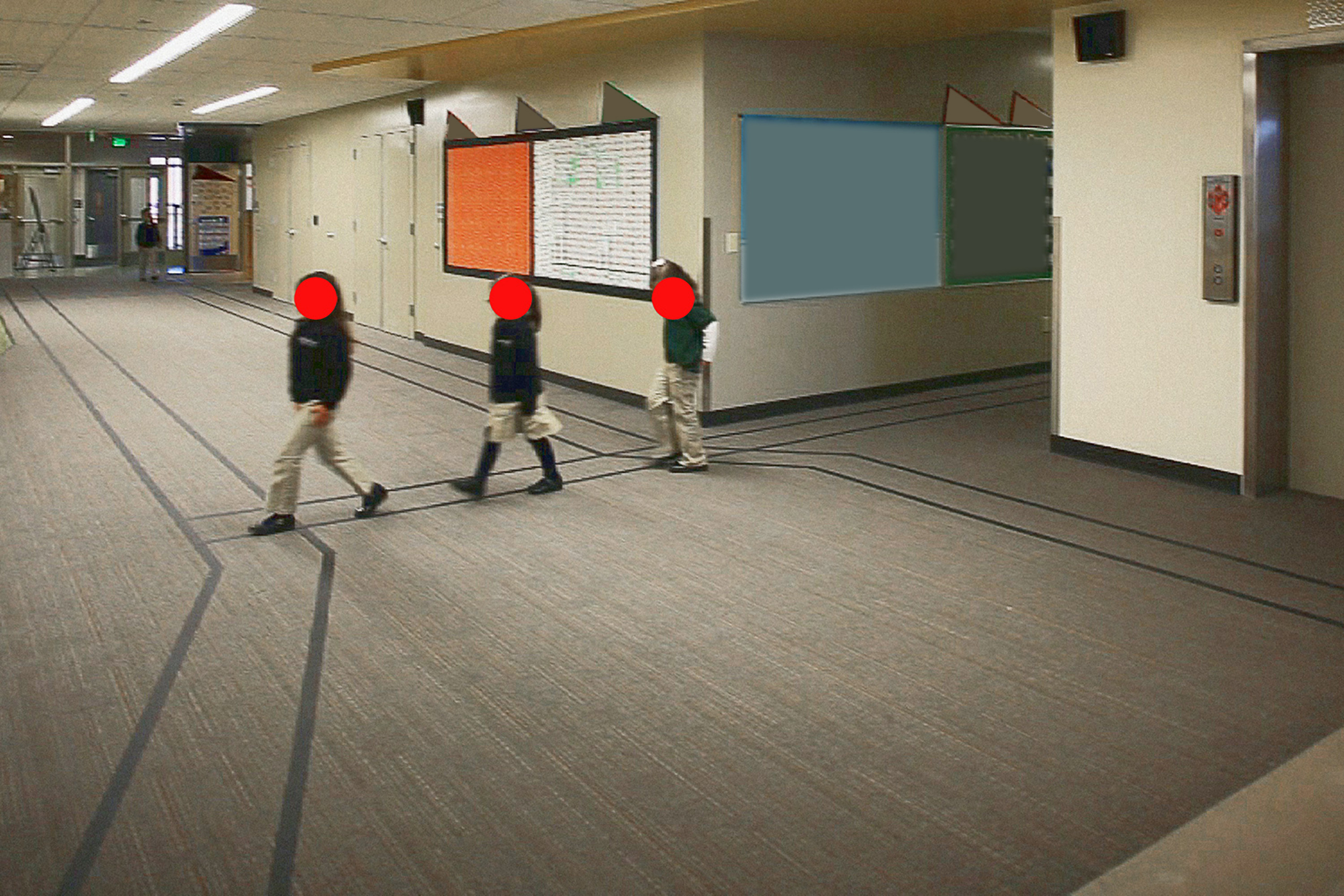 PUBLIC CHARTER SCHOOL, WHERE CHILDREN ARE INSTRUCTED TO WALK BETWEEN TAPED LINES