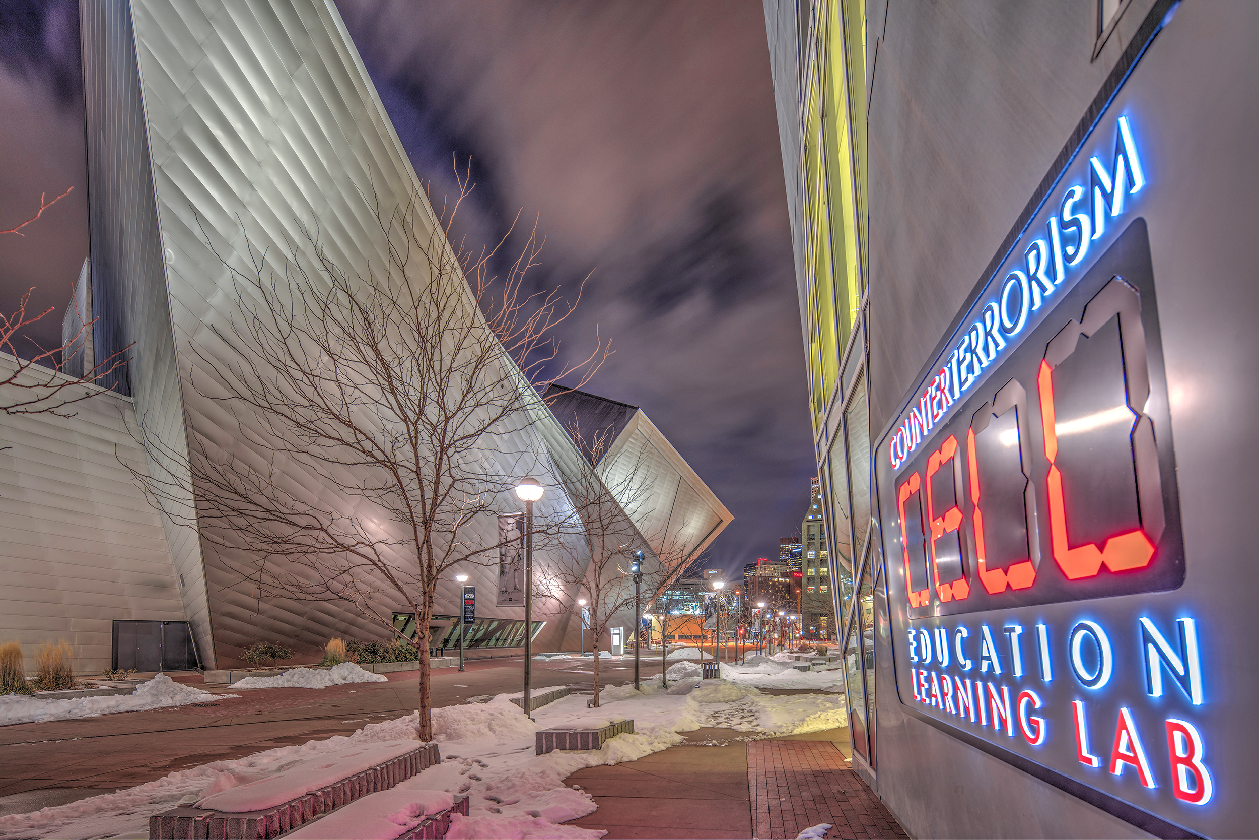 THE CELL: COUNTER TERRORISM EDUCATION LEARNING LAB/DENVER ART MUSEUM. DENVER CIVIC CENTER CULTURAL COMPLEX