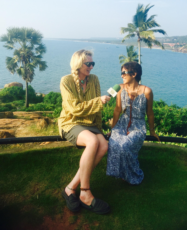 Interviewing Karen, a dedicated Ashtangi, in Kerala, South India.