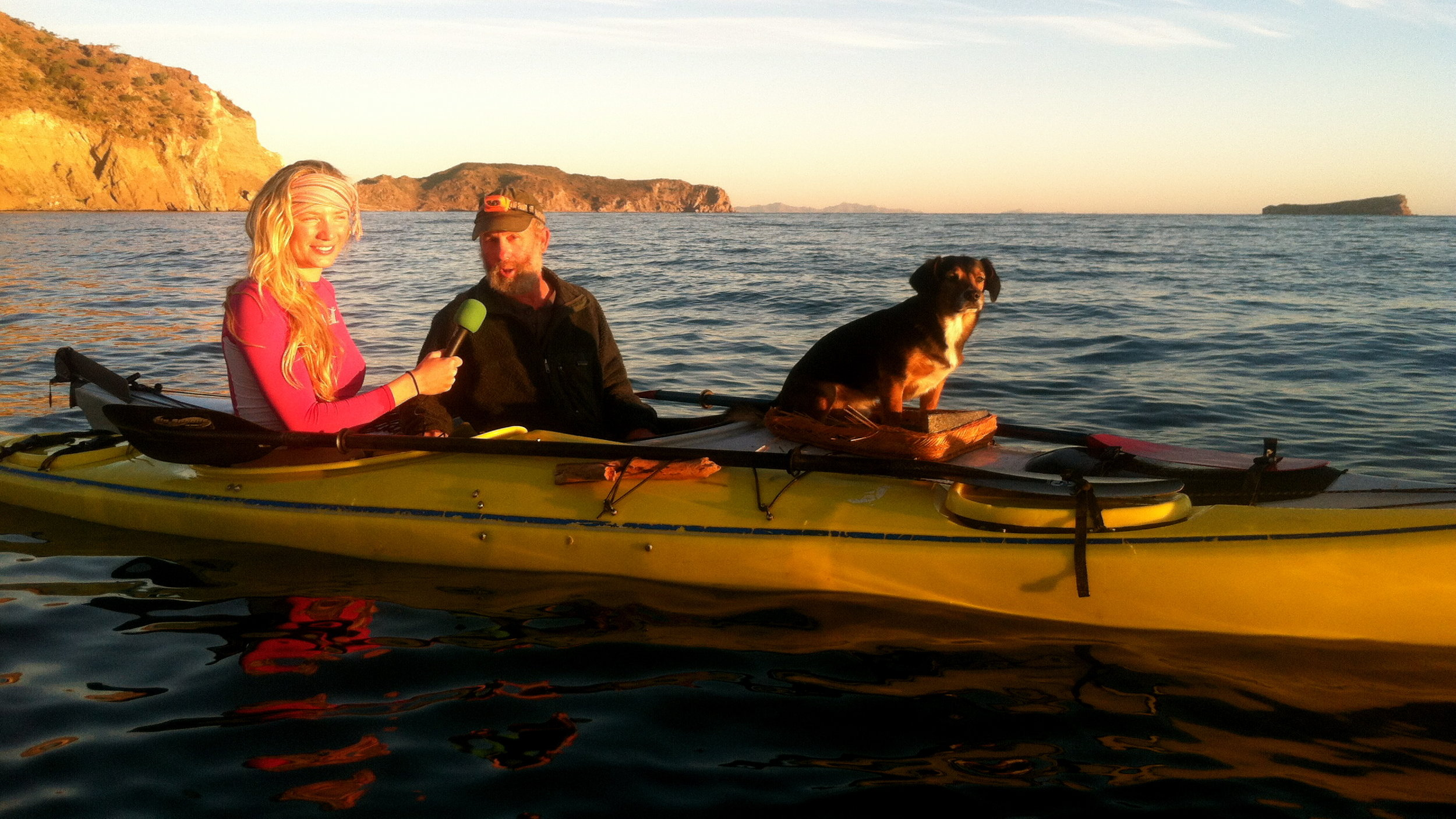 After paddling out into the Sea of Cortez before sunrise, Mandela interviews her mentor, Gary Steele.