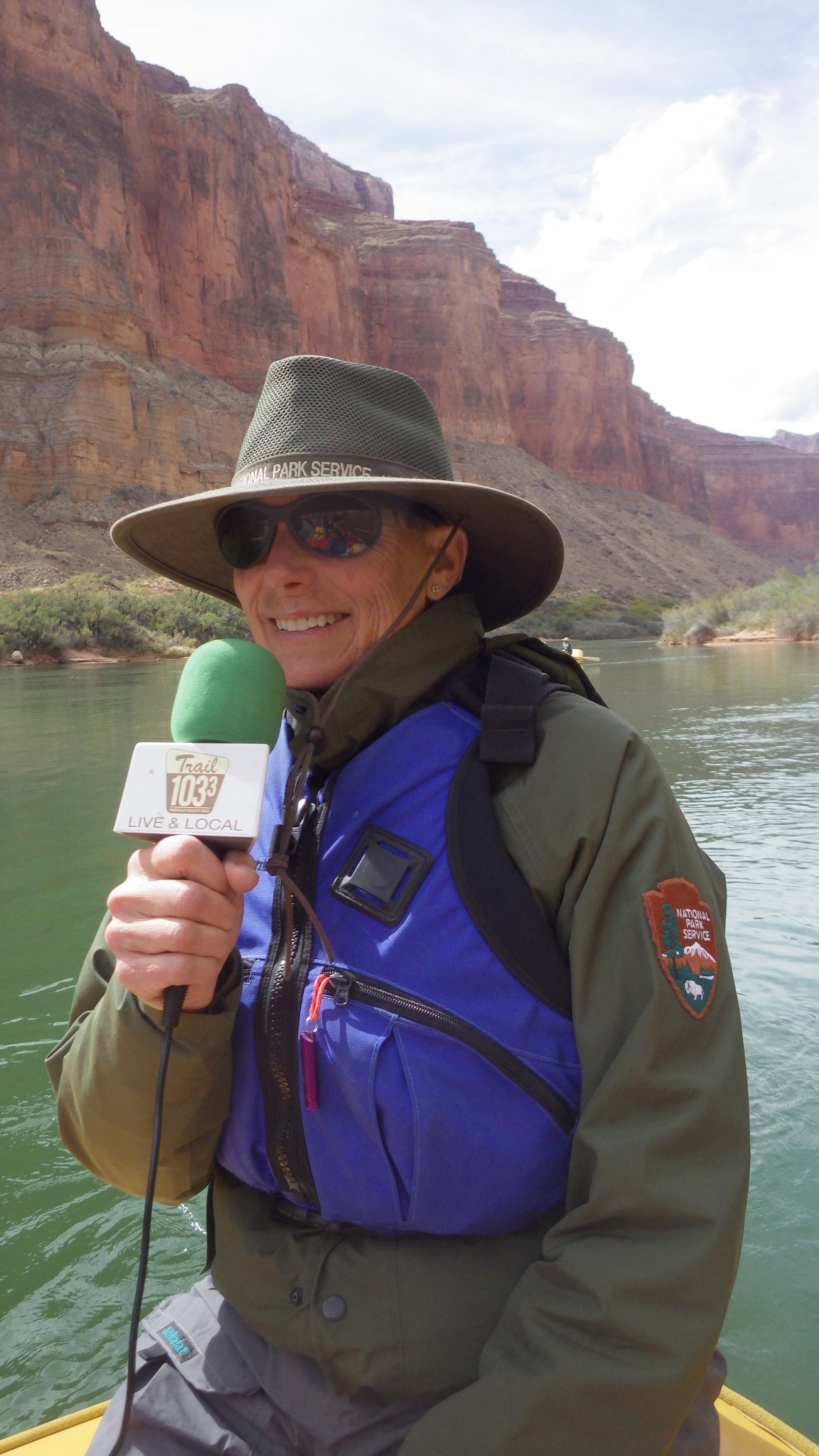 Interviewing Martha Hahn, Chief of Science & Resource Management for Grand Canyon National Park. Recorded during Grand Canyon River Guides Guide Training Seminar two week river expedition.