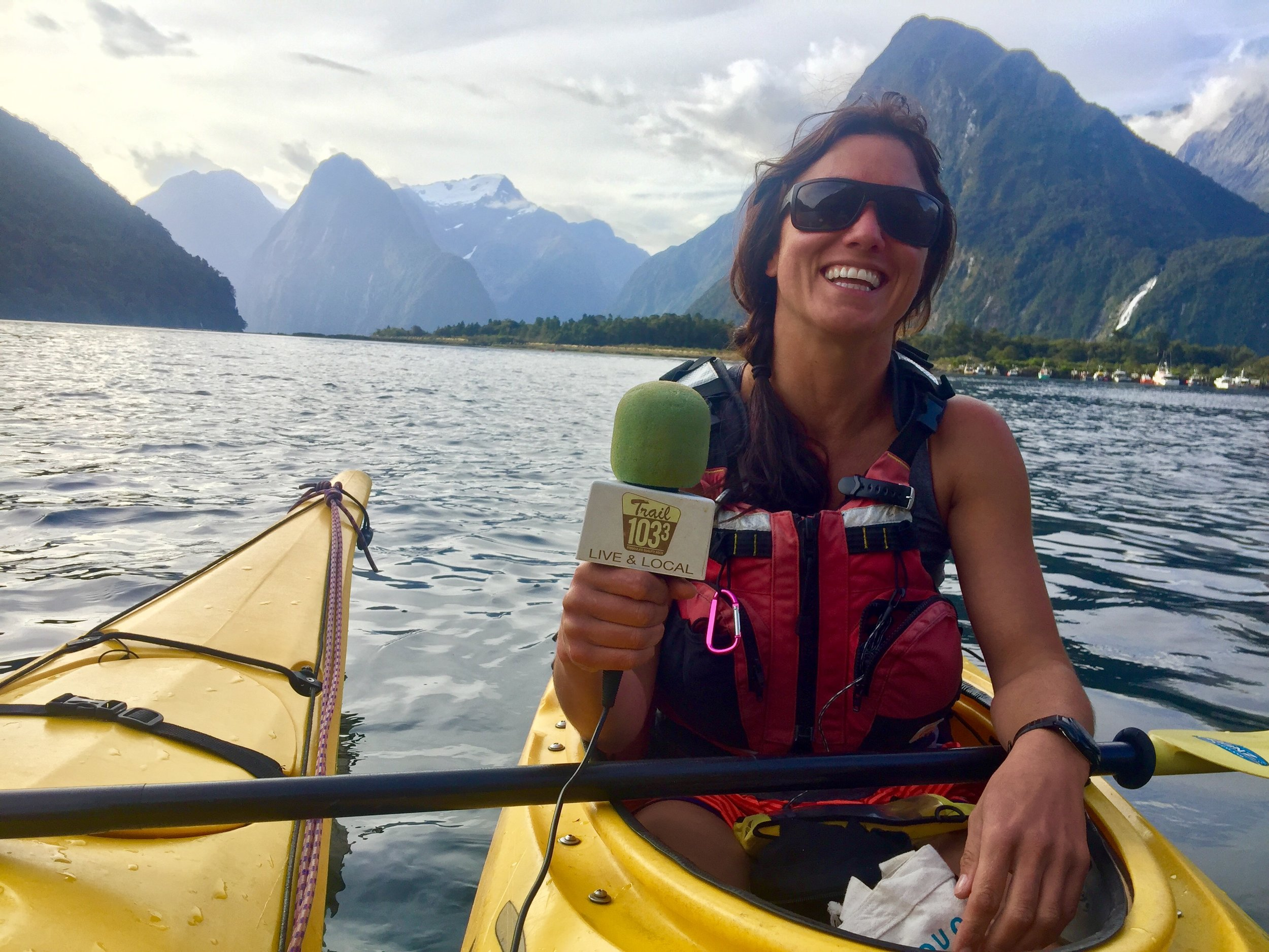 An interview recorded in sea kayaks in the Milford Sound on New Zealand's extremely remote west coast... Courtney Quintrell is an international adventure guide specializing in sky diving, sea kayaking, whitewater kayaking, motorcycle touring, sailing, orienteering & beer brewing. Courtney spent many years in Alaska but now calls New Zealand home. She is passionate about Maori culture & is in my opinion… the ultimate outdoor babe.