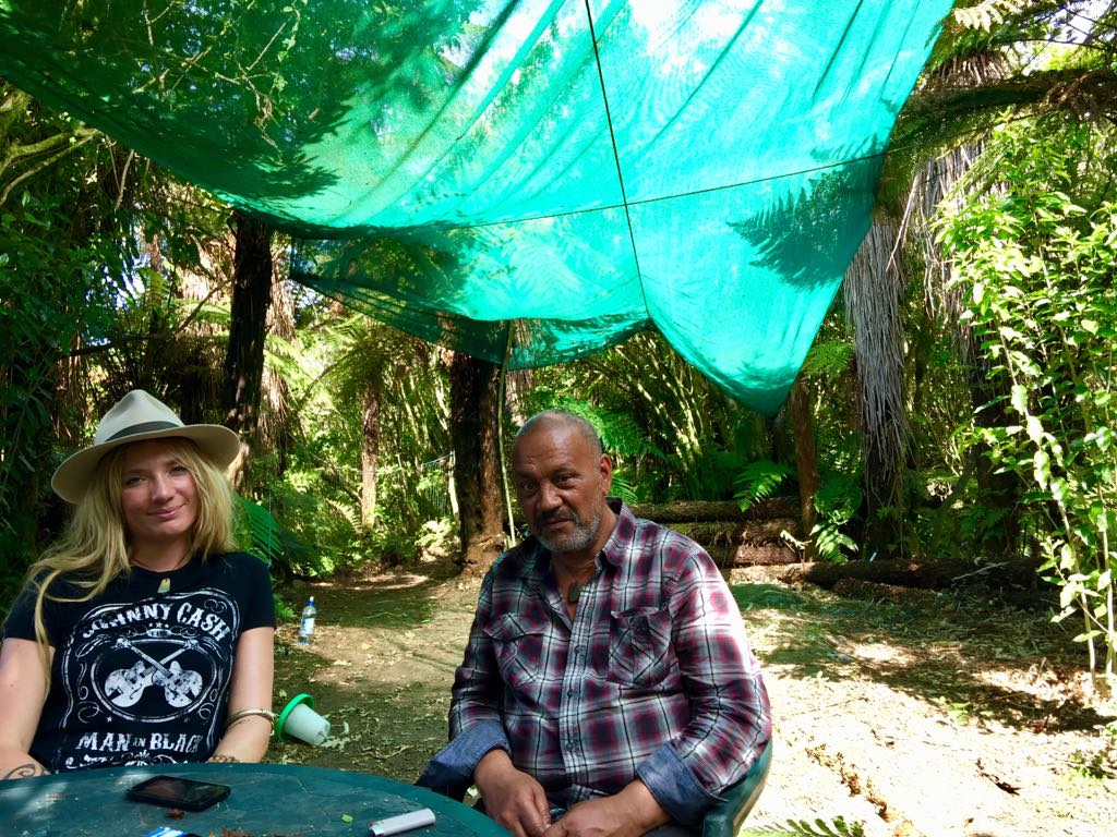 Sitting in the bush home of my friend, Tangi, a Māori elder & Kaitiaki Pounamu (Guardian of Greenstone). I first met Tangi in May & we spent the day looking for Greenstone at the mouth of the Arahura River. Tangi lives under tarps in an open clearing within the forest where the Arahura mets the Tasman Sea. Tangi has taught me so much about his culture & the Māori concept of guardianship, for the sky, the sea & the land. I drove up the West Coast to sit with him again & learn the history of Māori tribes on the South Island & what it means to be a Kaitiaki.
