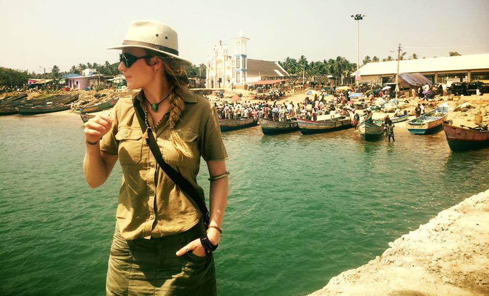 Recording on location in southwestern India.