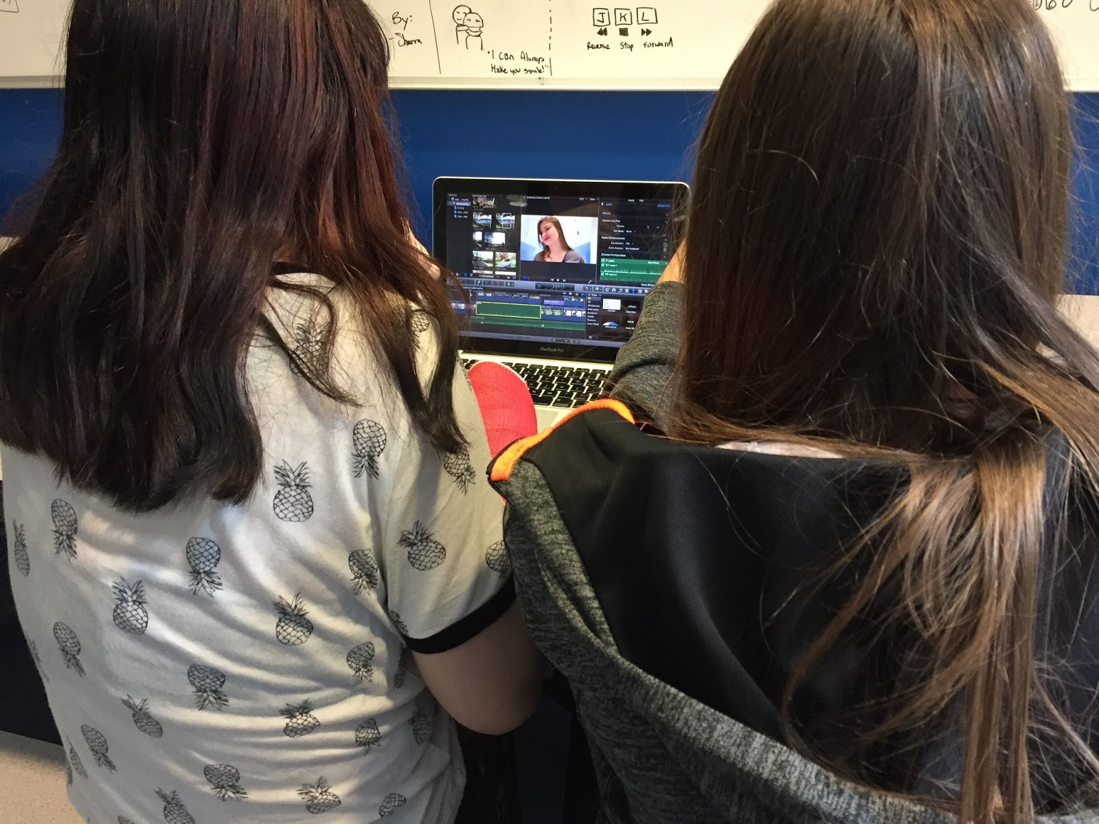 2/3 of the team (Tyra and Tasharra) caught editing!