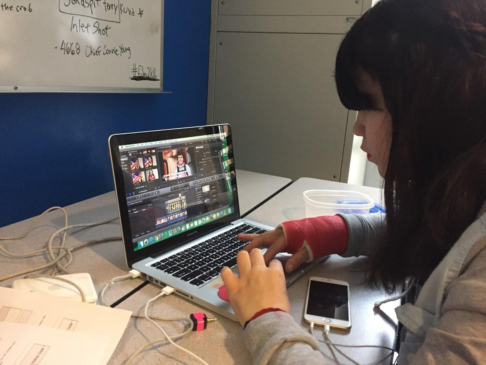 Tyra working on credits