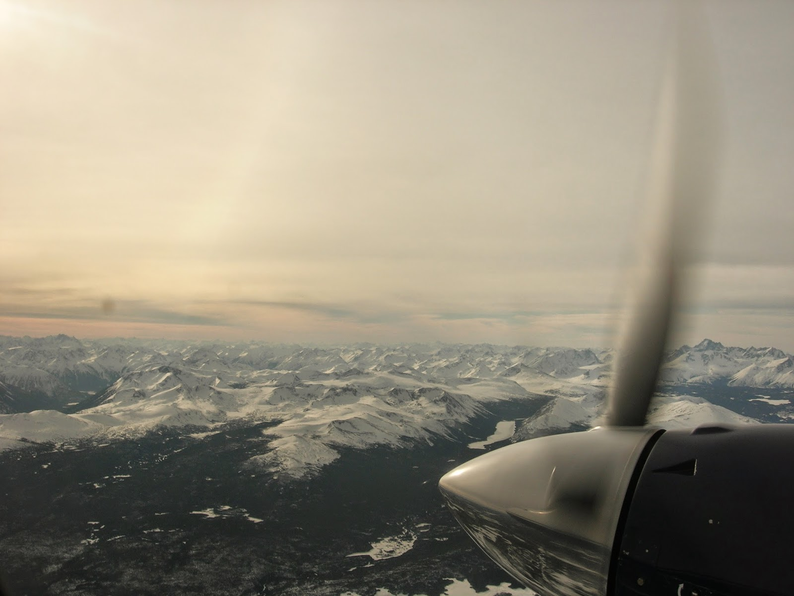Bella Coola is surrounded by mountains and sometimes you can't land due to fog...