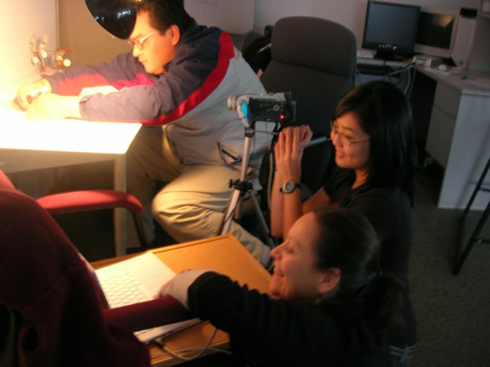 Tracy and Elisa help Doug animate