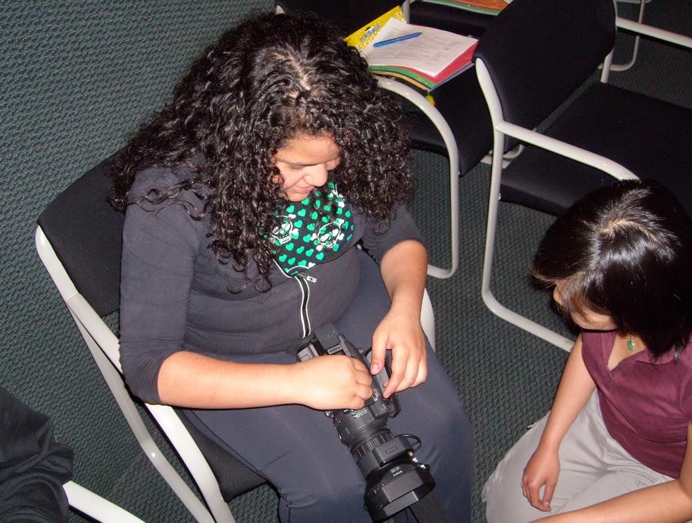 Manuela from Sechelt gets some help from mentor Elisa