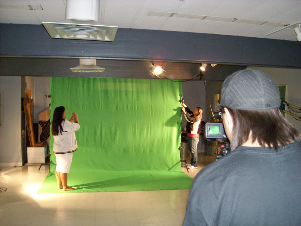 Capilano College generously supported Ernie and Sam to shoot a green screen scene for Happy Boy