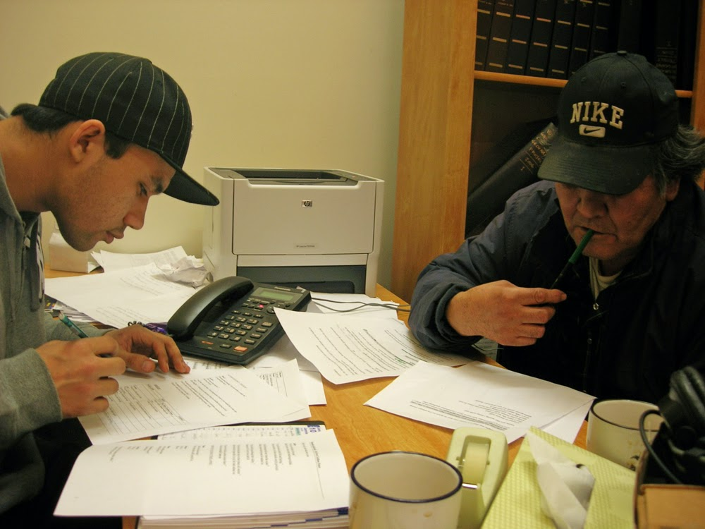 Brandon and Joel work on translation
