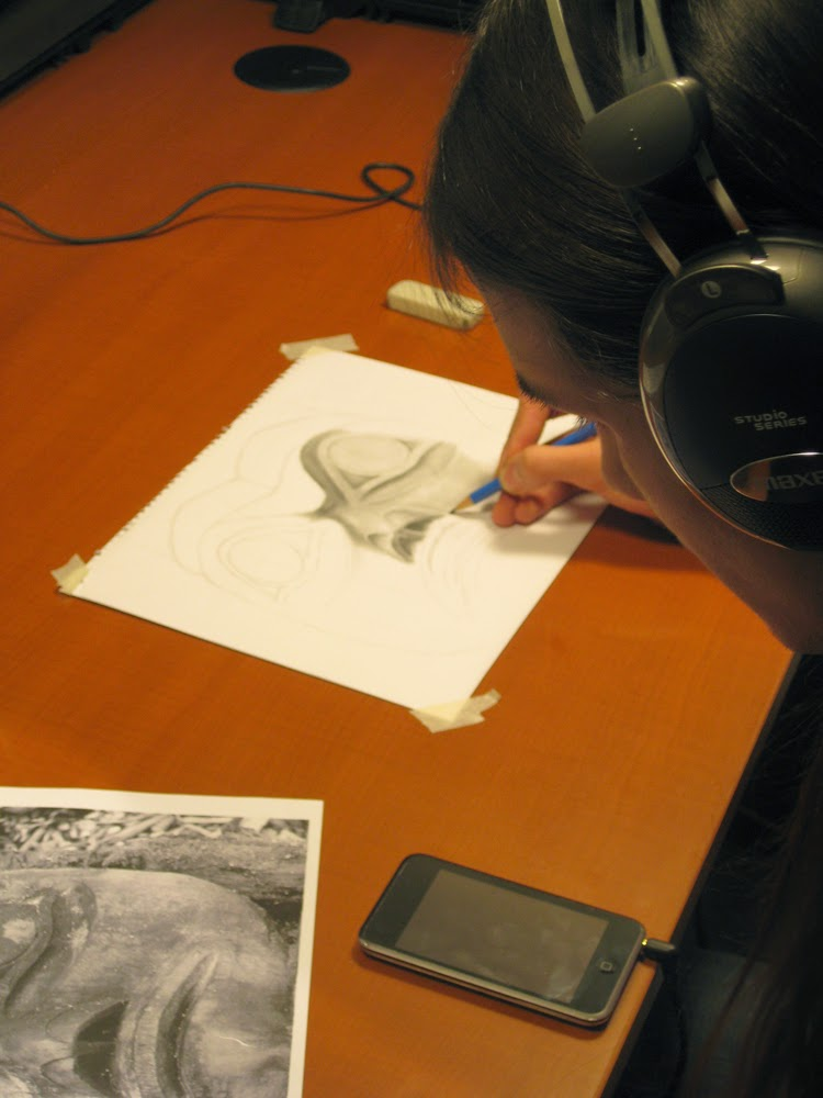 Brandon keeps drawing and capturing single images for Power of the Haida People