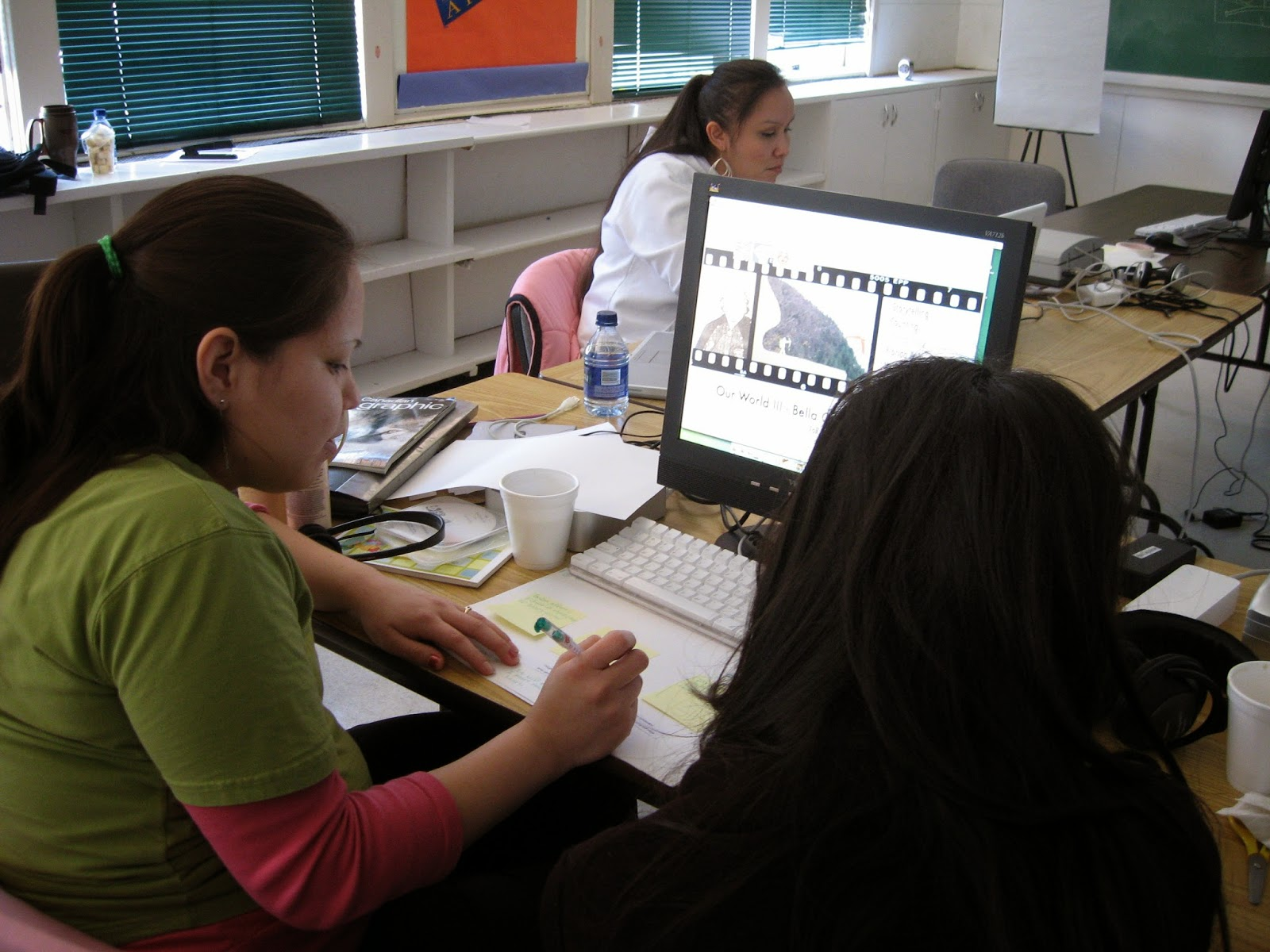 Sherylanne works on her storyboard for: My True Thoughts