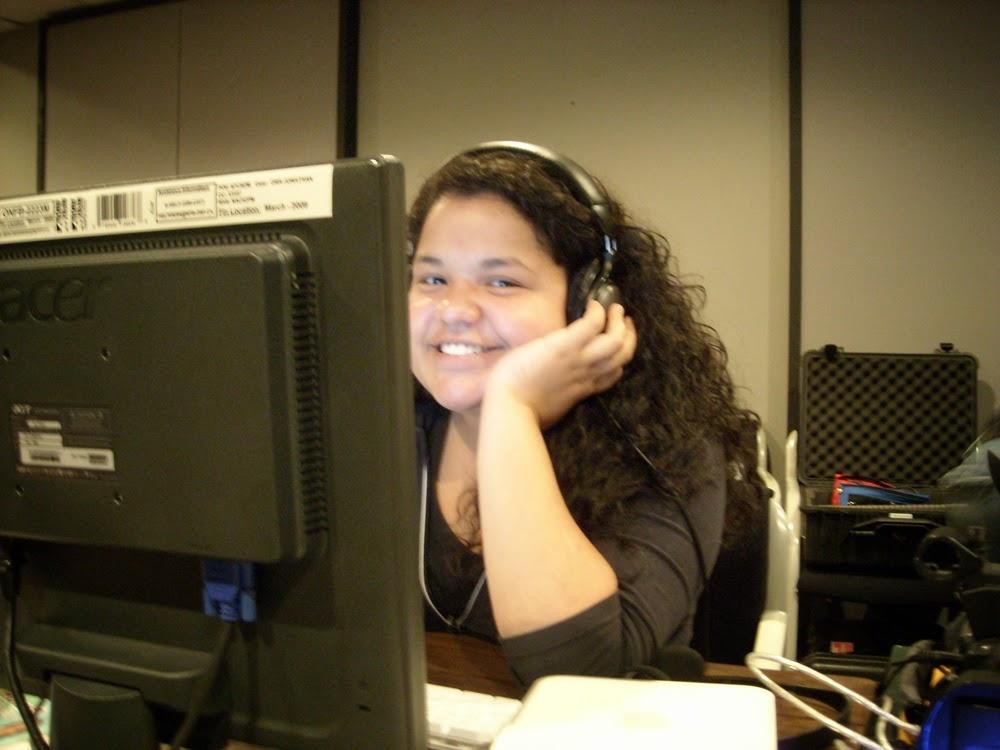 Manuela enjoys the editing process