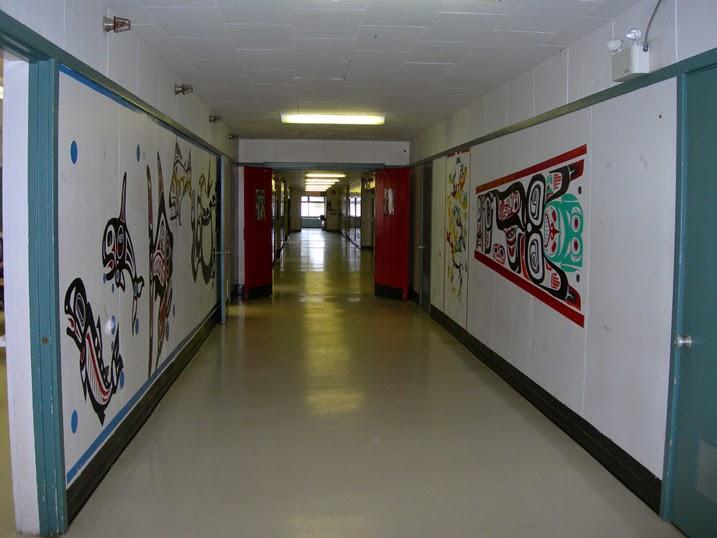 The art filled hallways
