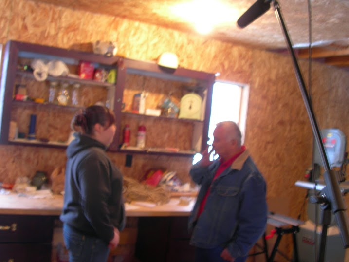 Nishan interviews her father in his workshop