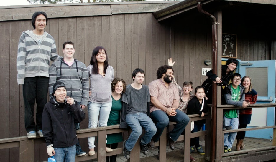 The crew (from left to right) Stephen, Ricky, Mikey, Roberta, Barb, Clifford, Jamaine, Lisa, Kelly, Sebnem, Alex and Julie.(Mariah is missing)