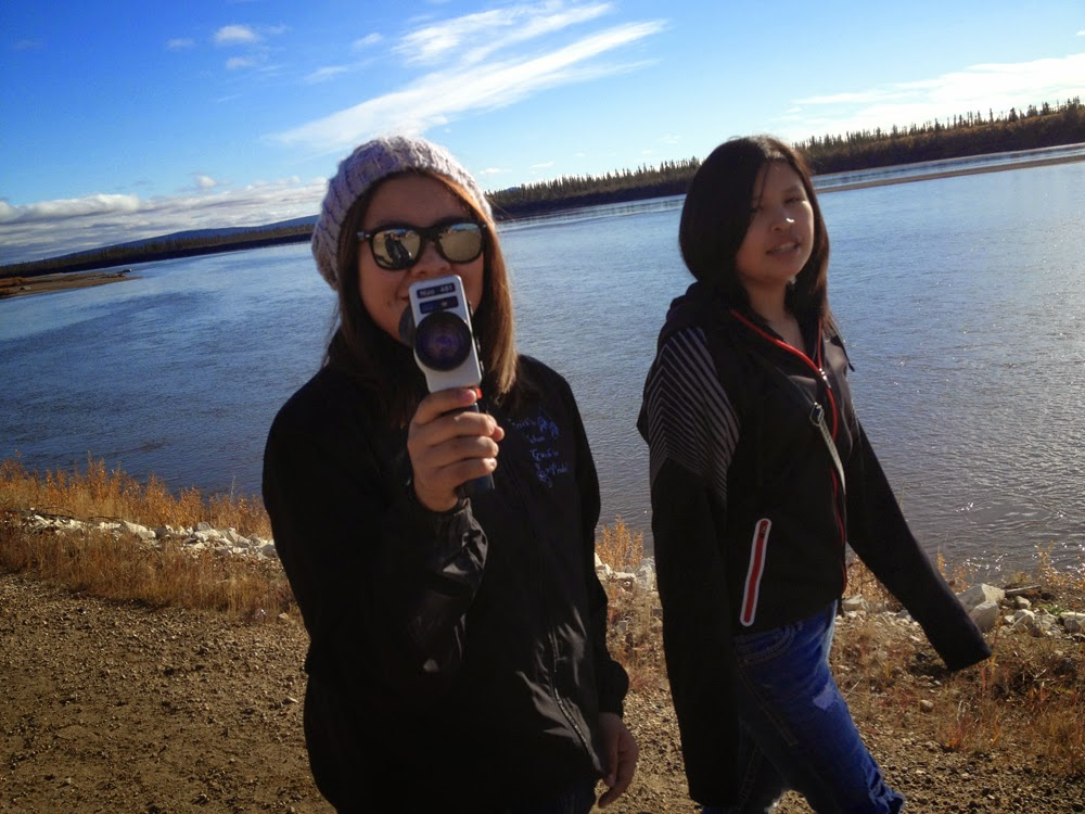 Candace and Percilla shoot along the Porcupine River