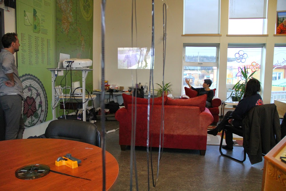 The film hangs to dry as the adults pop by to watch films.Vicky visits again and learns about the Sound We See project.