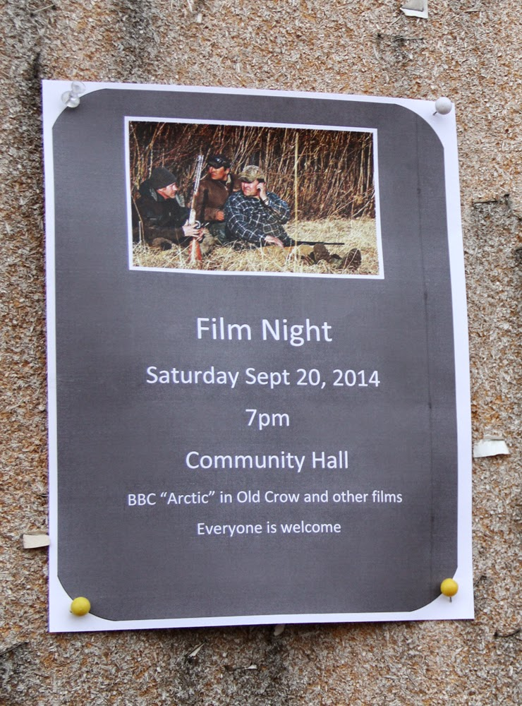 """Saturday Night - movies! We showed old Our World Films and then a film about Old Crow by BBC: """"Bruce Parry's Arctic"""""""