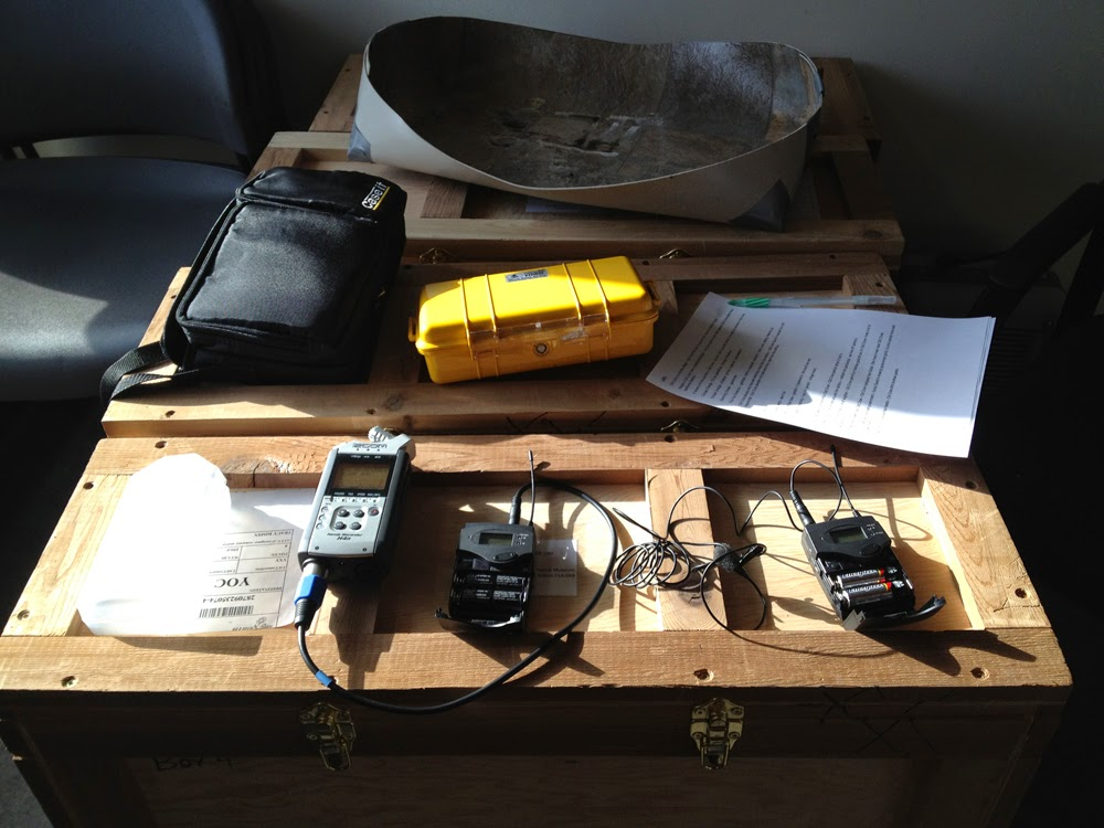 The sound studio is set up