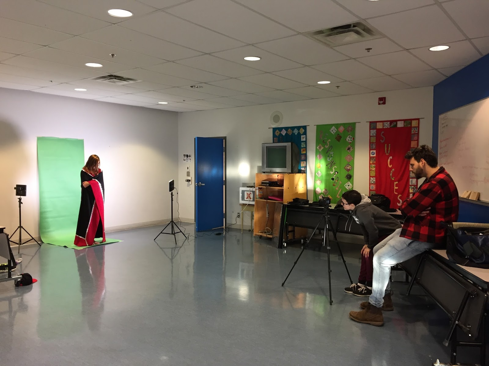 Mackenzie 'captures' the ghost on 'green screen'