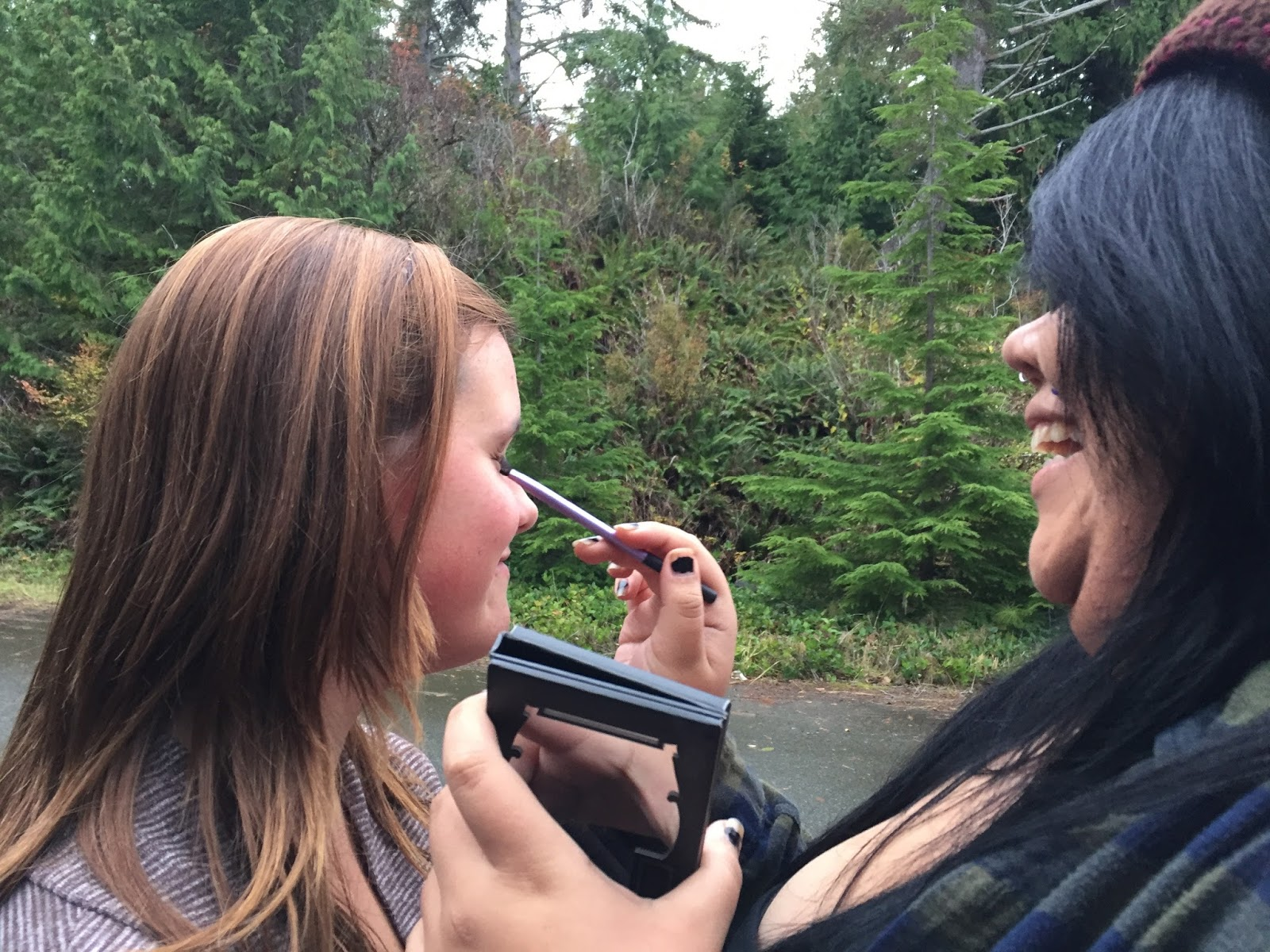 A little makeup and laughter