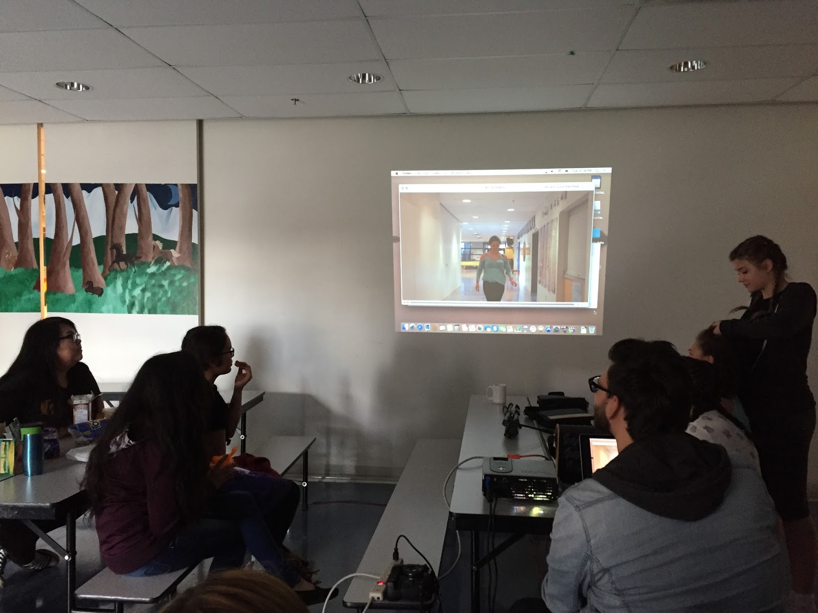 Reviewing footage and critiquing framing