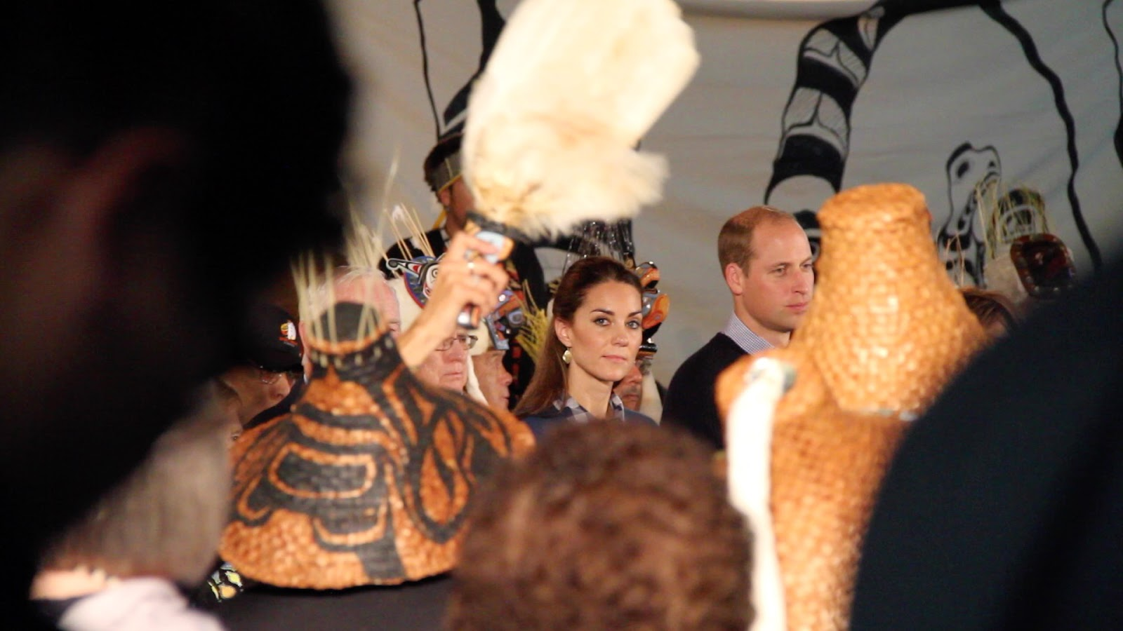 The Duchess spikes the camera!