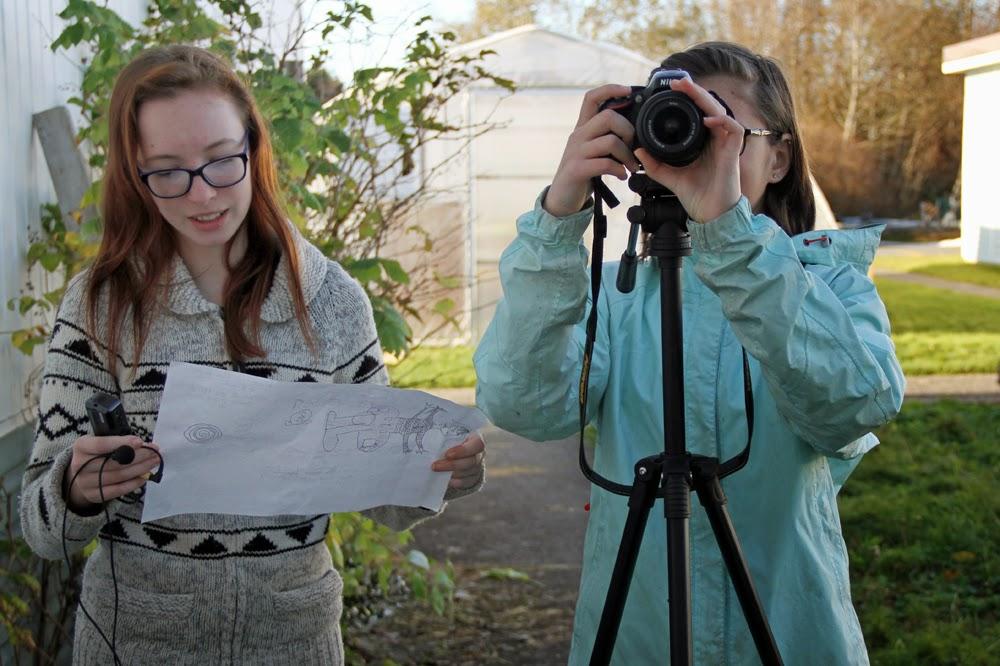 Zaya and Anni conduct a few interviews outside