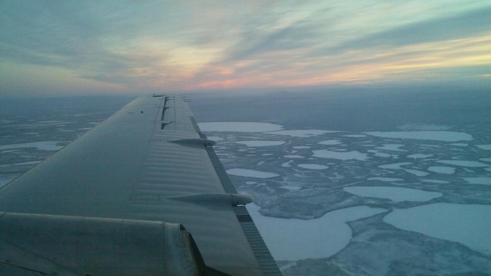 Landing in Old Crow