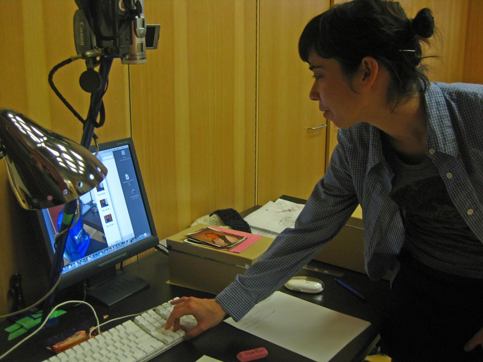 Catrina Longmuir checks the settings